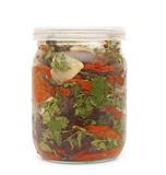 Grönsak i den glass kruset arkivfoto