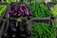 Grönsak i marknaden Royaltyfria Bilder