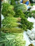 Grönsak på marknadshylla Royaltyfri Fotografi