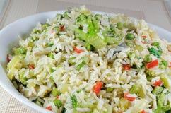 Grönsak stekt Rice Royaltyfri Foto