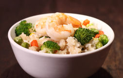 Grönsak stekte ris Royaltyfri Bild
