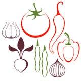 grönsak Uppsättning Arkivbild