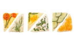 Grönsakcanapes Arkivbild