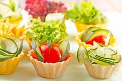 Grönsakcanapes Royaltyfria Bilder