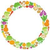 Grönsakcirkel Arkivfoto