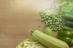 Grönsaker är gröna kopiera avstånd Royaltyfri Bild