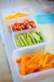 Grönsaker är klara att lagas mat Arkivfoto