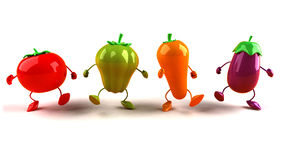 grönsaker stock illustrationer