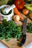 Grönsaker för att laga mat soppa Royaltyfria Bilder