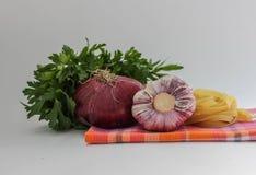 Grönsaker för coocking pasta Royaltyfri Fotografi
