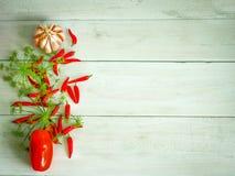 grönsaker för grönsak för tomat för produce för gurkamat vita nya sunda Peppar tomater, vitlök, chilipeppar på en trävit royaltyfri fotografi