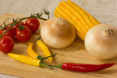 Grönsaker för kocken för en matställe Arkivfoton