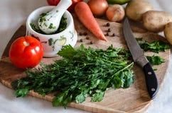Grönsaker för matlagning Royaltyfria Bilder
