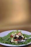 grönsaker för salat för ostfeta nya Arkivbild