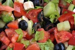 grönsaker för salat för ostfeta nya Royaltyfri Fotografi