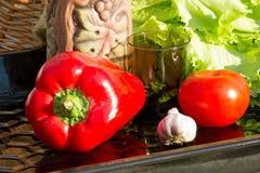 Grönsaker för sallad Arkivfoto