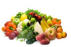 Grönsaker, frukt och kryddiga örtar Royaltyfri Fotografi