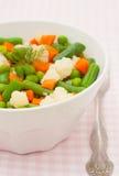 Grönsaker i den vita plattan Fotografering för Bildbyråer