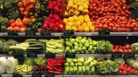 Grönsaker i marknad Royaltyfri Fotografi