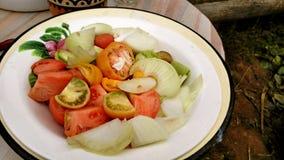 Grönsaker i plattan Arkivbilder