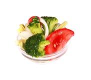 Grönsaker i små gass arkivbild