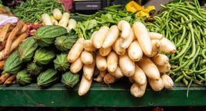 Grönsaker i srilankesisk marknad Arkivbilder