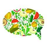 Grönsaker i symbol Arkivbild