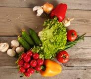 Grönsaker Ny Bio grönsak i en korg Över naturbakgrund Arkivbild
