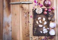 Grönsaker och använt för att laga mat Arkivfoton