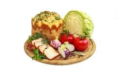 Grönsaker och bröd Royaltyfri Bild