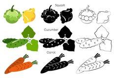 Grönsaker och frukt Arkivfoton