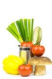 Grönsaker och tenn 2 Royaltyfria Bilder