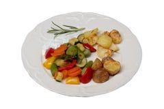 Grönsaker och ugnspotatisar Royaltyfria Foton