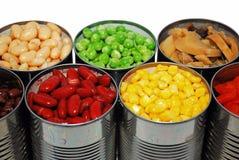grönsaker på burk royaltyfria bilder