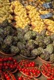 Grönsaker på en fransk marknad Royaltyfri Fotografi