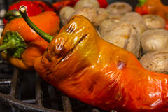 Grönsaker på en grillfest Arkivfoton