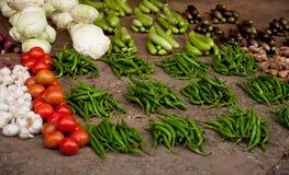 Grönsaker på en marknadsföra Royaltyfria Foton