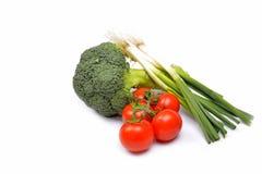 Grönsaker på en vitbakgrund Royaltyfri Foto