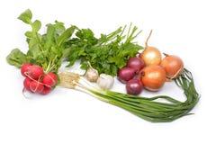 Grönsaker på en vitbakgrund Royaltyfri Fotografi