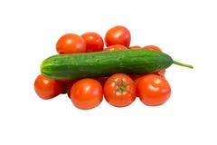Grönsaker på en vitbakgrund royaltyfri bild