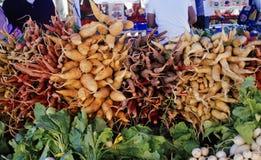 Grönsaker på marknaden Arkivfoto