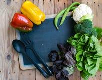 Grönsaker, peppar, grönsallat, broccoli, blomkål och pumpa Royaltyfri Fotografi