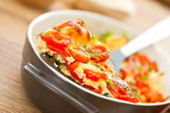 Grönsaker som bakas med ost Royaltyfri Fotografi