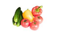 Grönsaker som isoleras på en vitbakgrund Arkivbild
