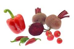 Grönsaker som isoleras på vit Fotografering för Bildbyråer