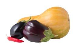Grönsaker som isoleras på vit bakgrund Fotografering för Bildbyråer