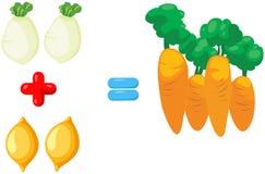 grönsaker som lär matematik Royaltyfri Fotografi