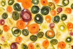 Grönsaker som quilling mat royaltyfri bild
