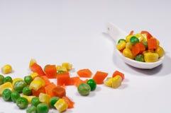 Grönsaker tre färger Arkivfoto