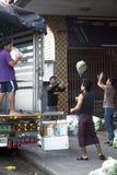 Grönsakfördelningsprocess Royaltyfria Foton